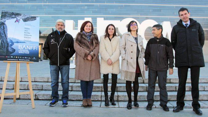Presentación del II BANFF Tour Spain (De izquierda a derecha Manolo Bara, Olvido Moratinos, Sonia Lasierra, Teresa Sas, Jesús Bosque y Carlos Lacosta)