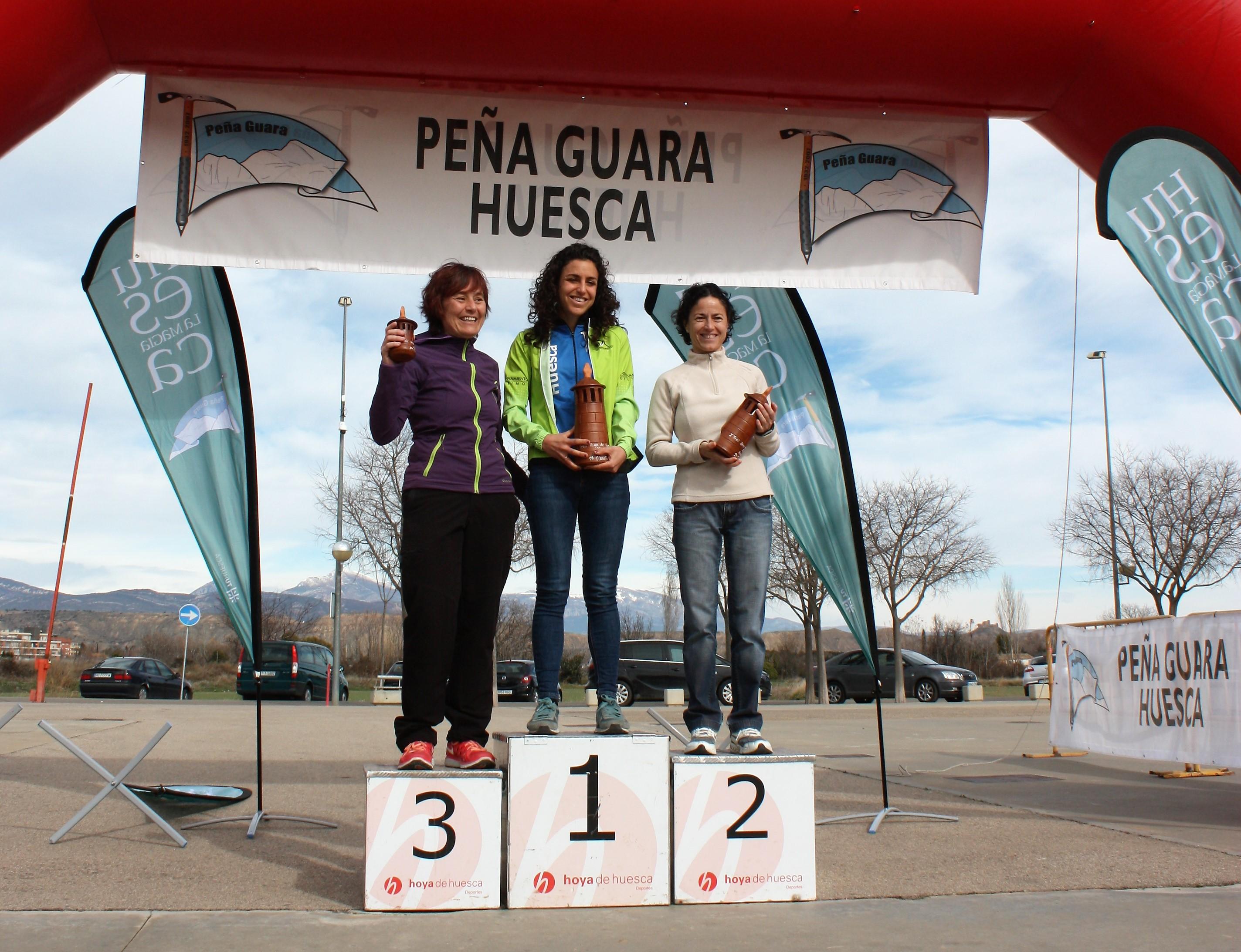 Podium femenino (de izquierda a derecha) - Eva Calvo (3), Sara Guérin (1), Marta Cortes (2)